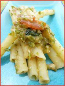 ziti-al-pesto-di-zucchine-vegan